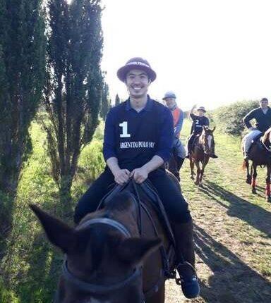 tourists on horse riding adventure in estancias